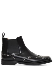 Church's 20Mm Ketsby Studded Brogue Leather Boots Black