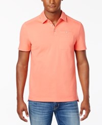 Kenneth Cole New York Men's Maximilian Cotton Polo Sunkissed