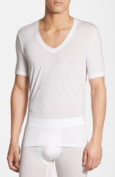 Men's Tommy John 'Second Skin' Deep V Neck T Shirt