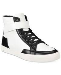Guess Men's Mendoza High Top Sneakers Men's Shoes White