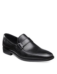 Ecco Edinburg Leather Buckle Slip On Black