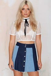 Nasty Gal Block Party Denim Skirt