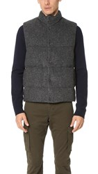 Vince Down Quilted Vest H. Mid Grey