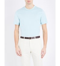 Gieves And Hawkes Crewneck Cotton T Shirt Mint