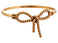 Marc Jacobs Bow Rope Bow Hinge Cuff Bracelet Antique Gold