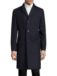 Burberry Bishopsgate Wool And Cashmere Coat Storm Blue