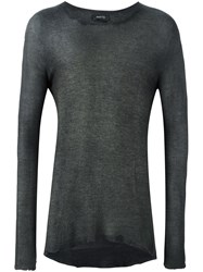 Avant Toi Raw Edge Jumper Grey