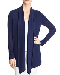 Bloomingdale's C By Open Front Cashmere Cardigan 100 Exclusive Navy