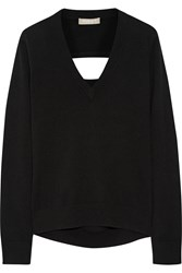 Michael Kors Cutout Cashmere Sweater Black