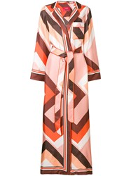 F.R.S For Restless Sleepers Floor Length Belted Robe Pink And Purple