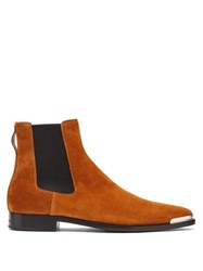 Givenchy Dallas Metal Tip Suede Chelsea Boots Brown