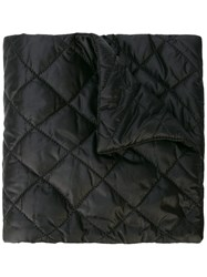 Chanel Vintage Quilted Logo Scarf Black