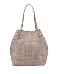 Woven Double Handle Tote Bag Light Taupe Henry Beguelin
