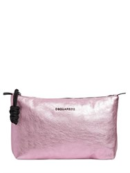Dsquared Oversized Laminated Leather Clutch
