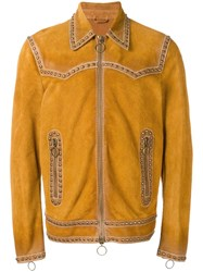 Dsquared2 Western Studded Accent Jacket Yellow Orange