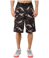 Nike Elite Stripe Camo Shorts Black Volt Volt Metallic Silver Men's Shorts
