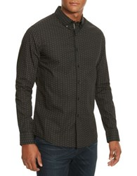 Kenneth Cole Line Printed Woven Shirt Black Combo