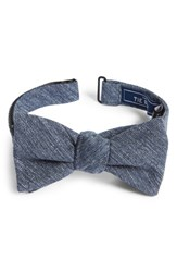 The Tie Bar Men's West Ridge Silk Bow Navy