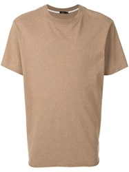 Bassike Short Sleeve Fitted T Shirt Brown