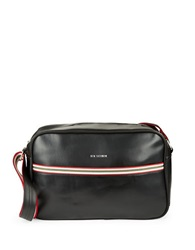Ben Sherman Iconic Faux Leather Crossbody Bag Coal