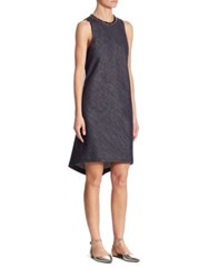 Brunello Cucinelli High Low Denim Dress Ink Blue
