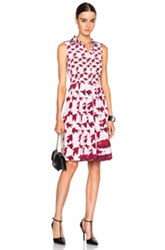 Elle Sasson Shana Dress In Pink Red Animal Print