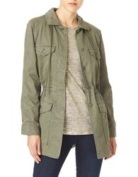 Sanctuary Tash Military Parka Jacket Military Green