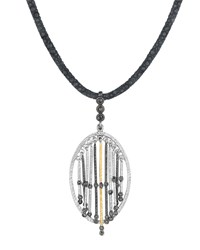 Spring Silver And Gold Pendant With Diamonds Coomi Silver Gold