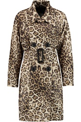 Vivienne Westwood Malady Leopard Print Shell Trench Coat Animal Print
