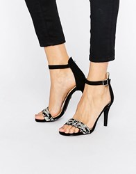 Oasis Embroidered Barely There Heeled Sandal Multi