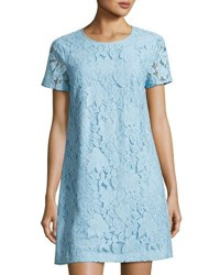 Cynthia Steffe Kayte Short Sleeve Lace Dress Blue