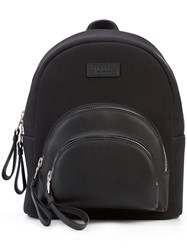 Valas Micro Rockefeller Backpack Women Leather Canvas One Size Black