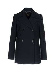 Space Style Concept Coats Dark Blue