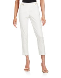 Calvin Klein Cropped Zip Accent Pants White