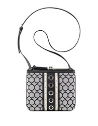 Nine West Jaya Jacquard Crossbody Bag Black White
