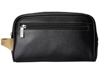 Kenneth Cole Reaction Go For Kit Single Gusset Top Zip Travel Kit Black Wallet