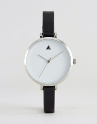 Asos Monochrome Large Face Skinny Strap Watch Black