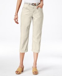 Styleandco. Style And Co. Petite Belted Capri Pants Only At Macy's Stonewall