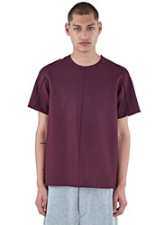 Mohsin Steen Double Faced Boxy Top Burgundy
