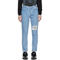 Enfants Riches Deprimes Blue Logo Patch Jeans