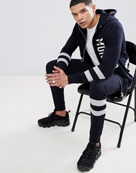 Antony Morato Joggers With Stripe Leg Navy