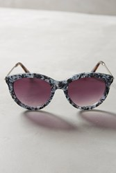Anthropologie Ett Twa Tibby Sunglasses Black White