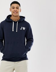 Jack Wills Thurlby Back Graphic Overhead Hoodie In Navy