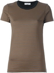 Sonia Rykiel Striped T Shirt Brown