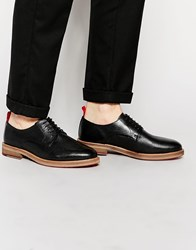 Asos Derby Shoes In Black Scotchgrain Leather