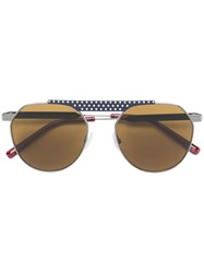 Oxydo Round Tinted Sunglasses Silver