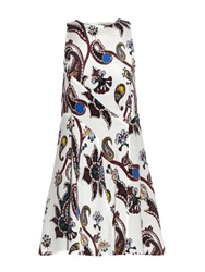 Mary Katrantzou Macbay Urdu Paisley Print Silk Mini Dress