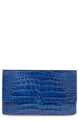 Vince Croc Embossed Leather Clutch