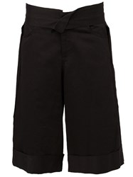 Yang Li Wide Leg Shorts Black