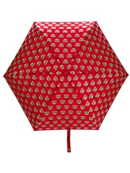 Moschino Mini Teddy Umbrella Red